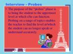 interview probes