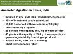 anaerobic digestion in kerala india