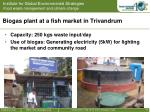 biogas plant at a fish market in trivandrum