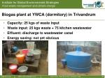 biogas plant at ywca dormitory in trivandrum