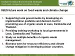 iges future work on food waste and climate change