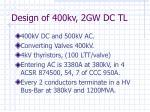 design of 400kv 2gw dc tl