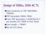 design of 500kv 2gw ac tl11