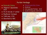 puritan heritage
