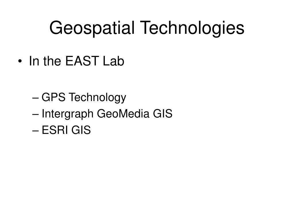 geospatial technologies l.