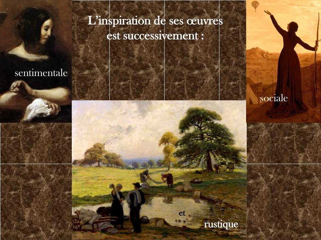 L'inspiration de ses œuvres