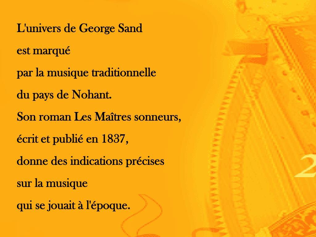 L'univers de George Sand