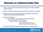 elements of a national action plan