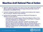 mauritius draft national plan of action21