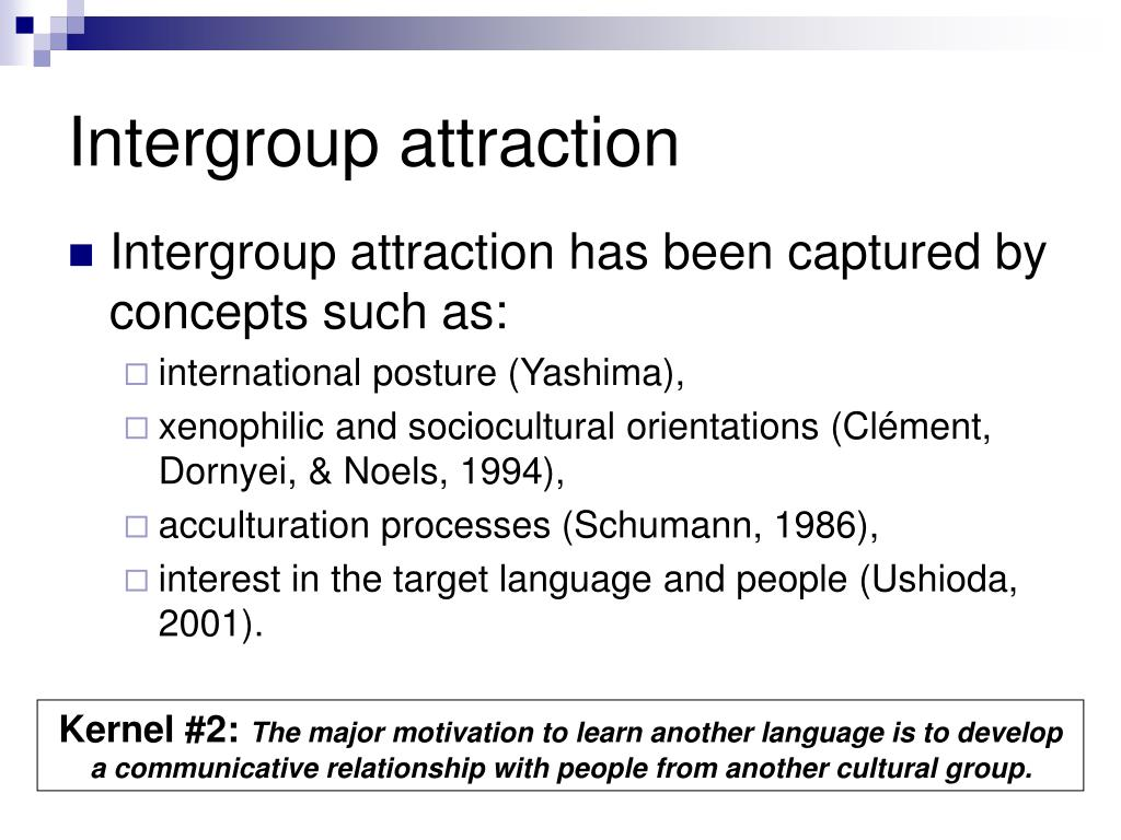 Intergroup attraction