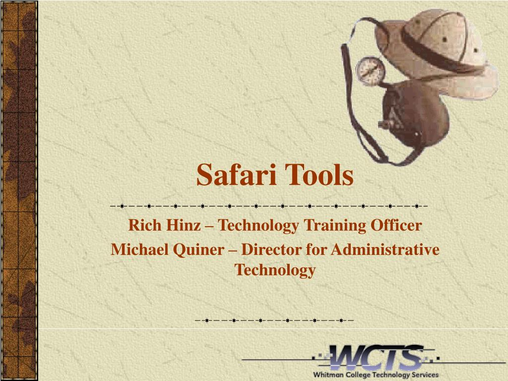 safari tools l.