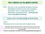 new relations on the global markets
