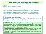 new relations on the global markets14