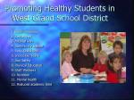 promoting healthy students in west grand school district