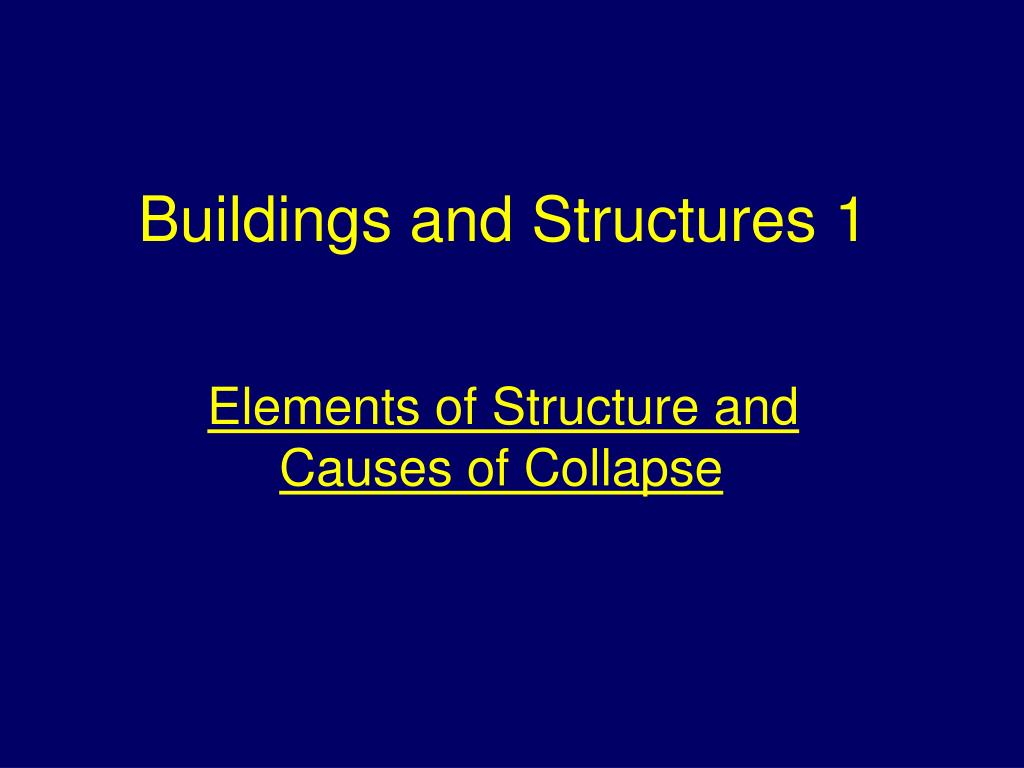 buildings and structures 1 l.