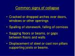 common signs of collapse