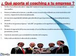 qu aporta el coaching a tu empresa