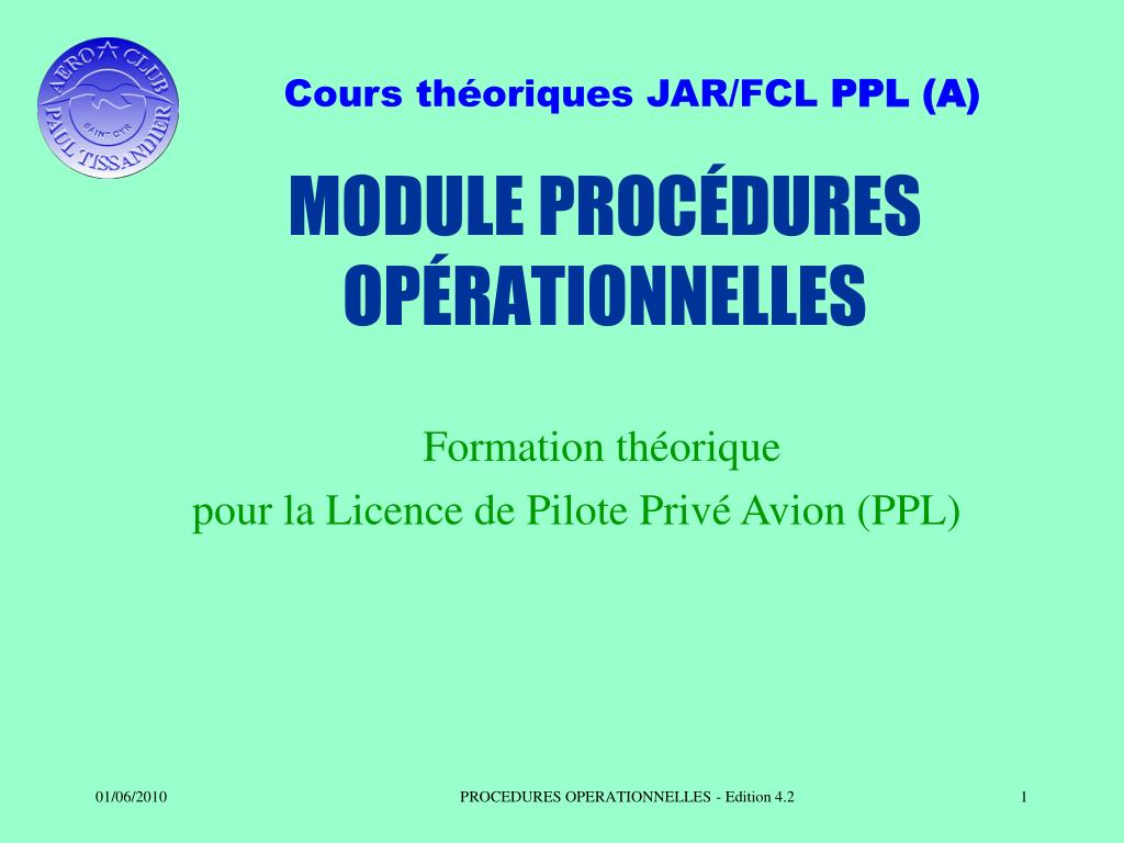 module proc dures op rationnelles l.