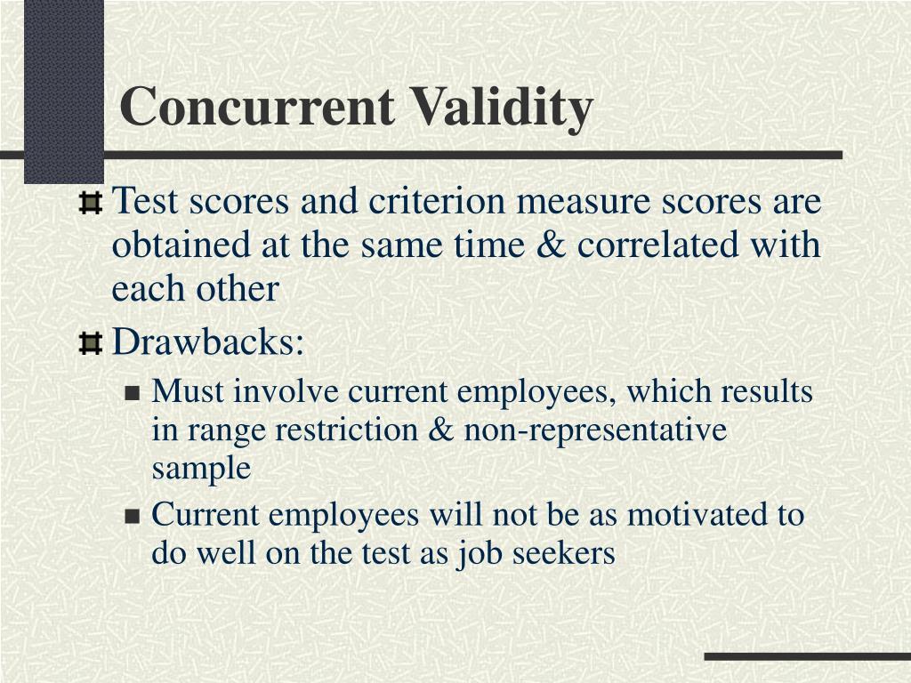 Concurrent Validity