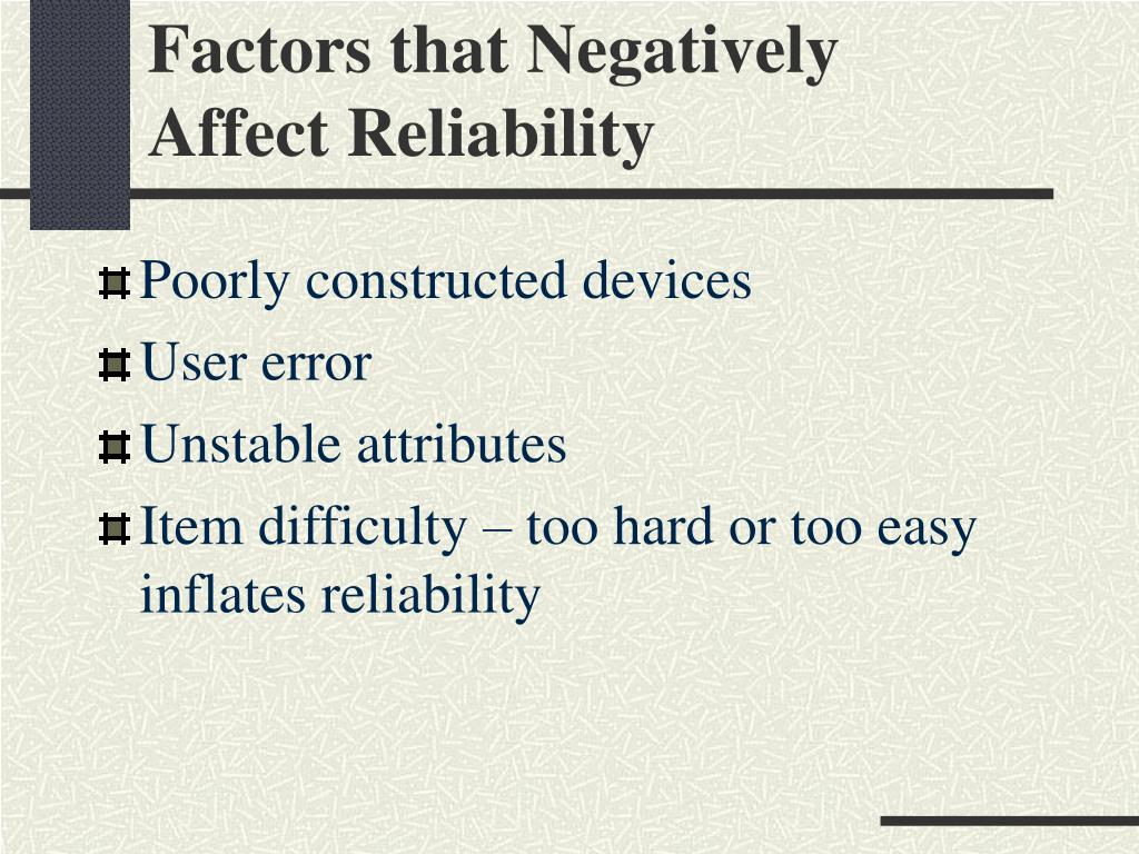 Factors that Negatively
