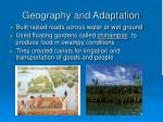 geography and adaptation