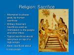 religion sacrifice