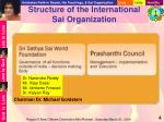 structure of the international sai organization