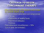 criteria to begin concurrent therapy