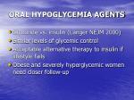 oral hypoglycemia agents