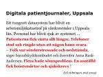 digitala patientjournaler uppsala