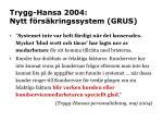trygg hansa 2004 nytt f rs kringssystem grus
