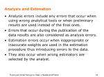 analysis and estimation