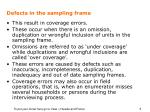 defects in the sampling frame