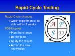 rapid cycle testing