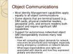 object communications