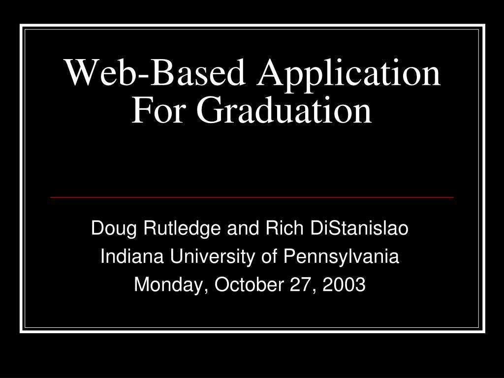 web based application for graduation l.