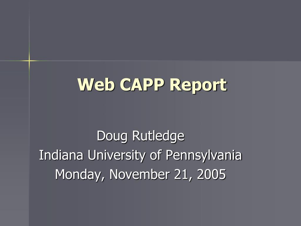 web capp report l.