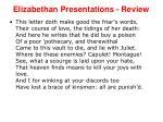 elizabethan presentations review15