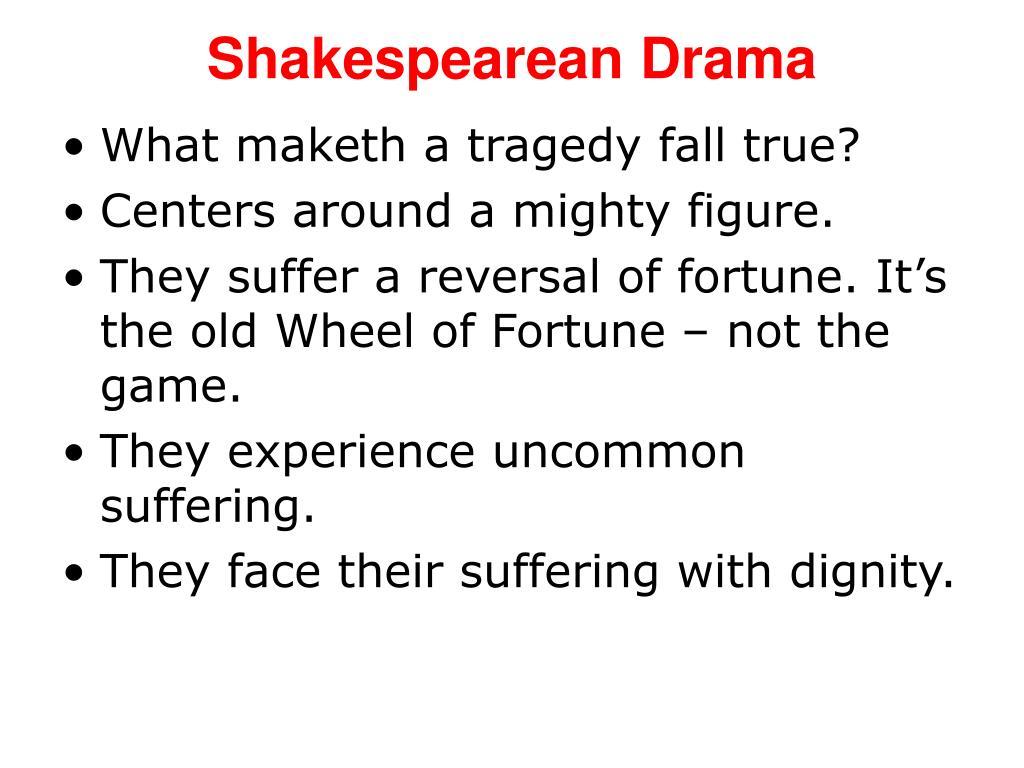 shakespearean drama l.