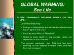 global warming sea life