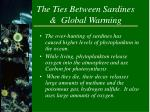 the ties between sardines global warming
