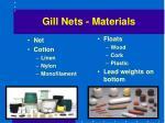 gill nets materials