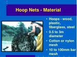 hoop nets material