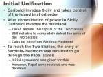 initial unification