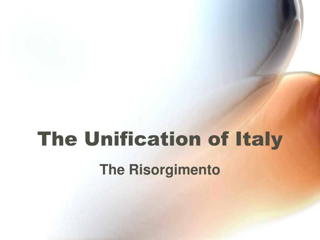 the unification of italy l.