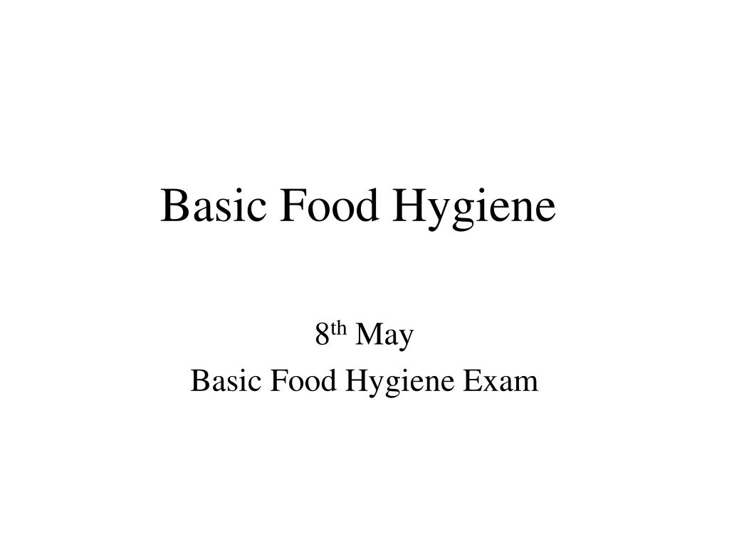 basic food hygiene l.