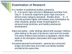 examination of research
