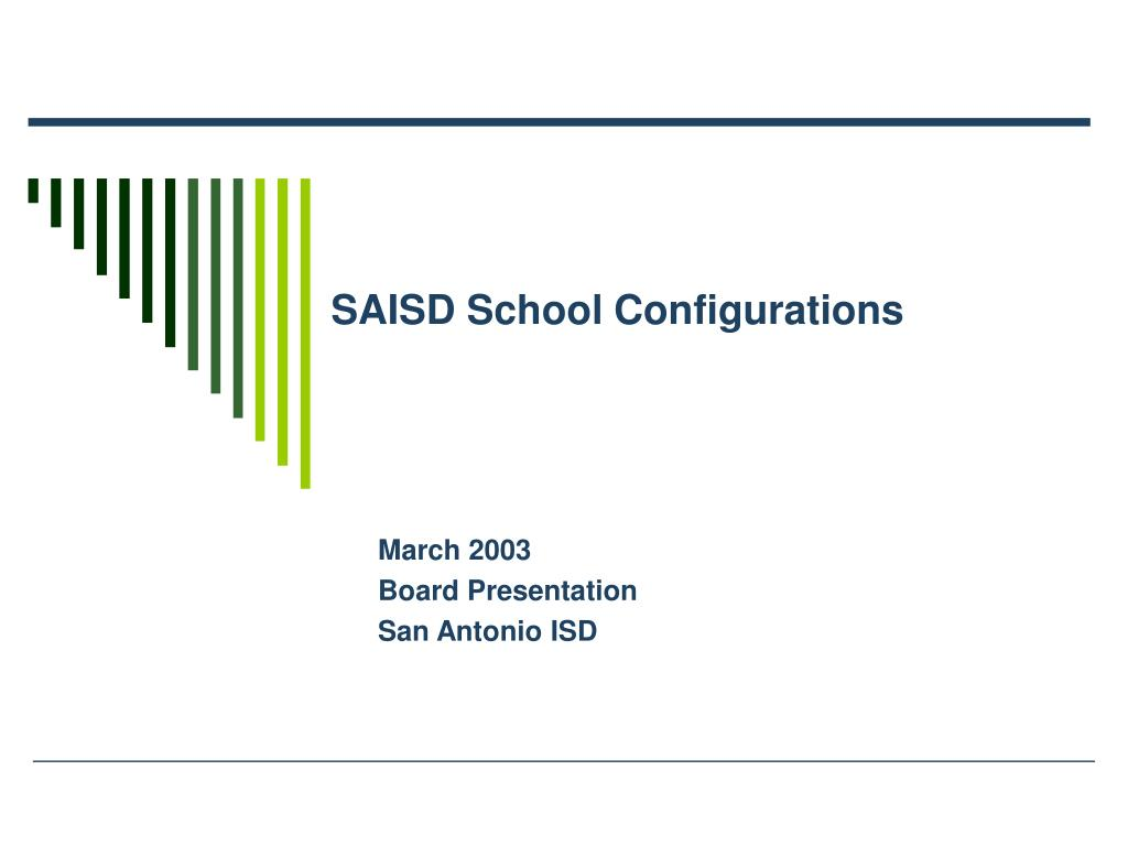 saisd school configurations l.