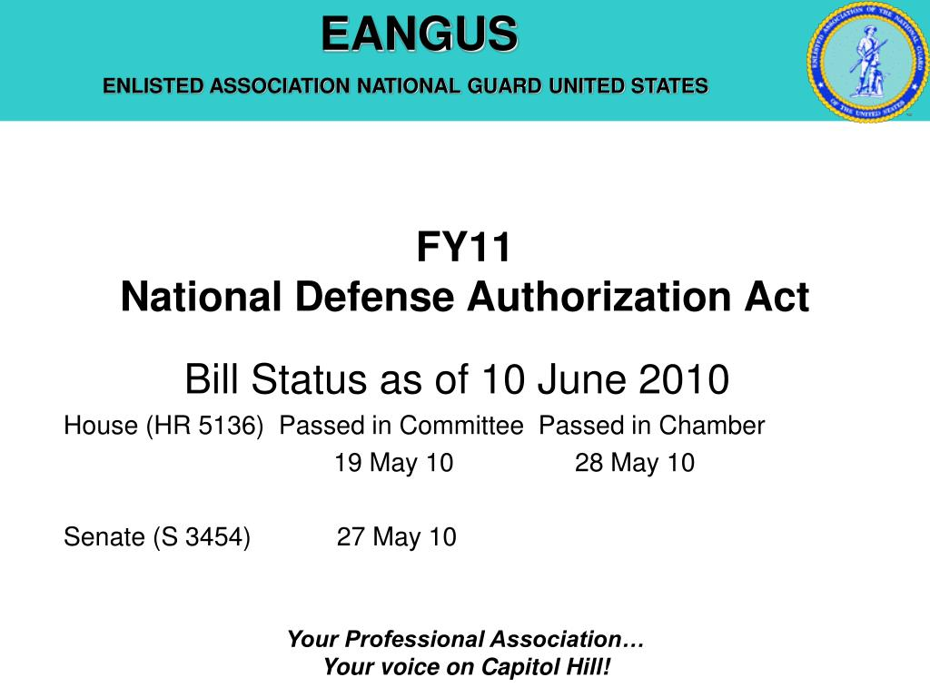 fy11 national defense authorization act l.