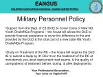 military personnel policy10